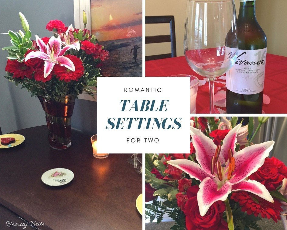 Romantic Table Settings For Two Beauty Brite
